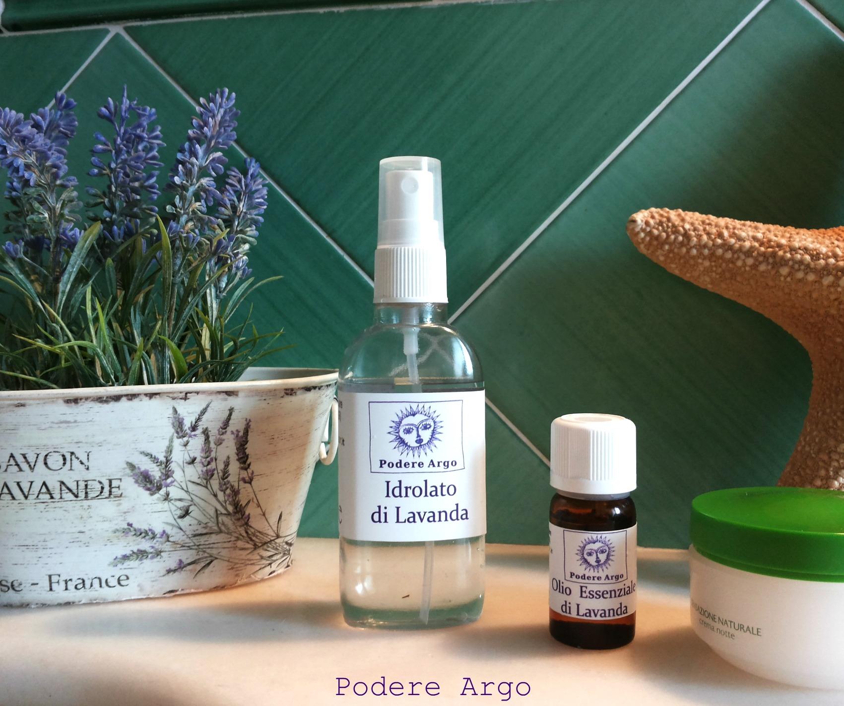 Aceite esencial e hidrolato de lavanda para belleza facial