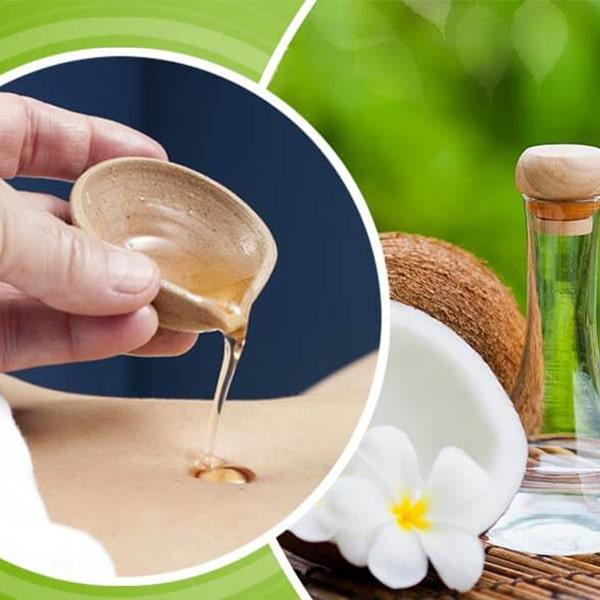 untar aceite esencial de limon en el ombligo
